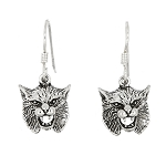 Sterling Silver Bobcat Earrings