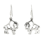 Sterling Silver Buffalo Earrings