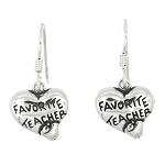 Sterling Silver Favorite Teacher earrings