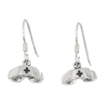 Sterling Silver Nurse Hat Earrings