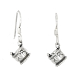 Sterling Silver Rx Mortar and Pestle Earrings