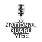 Sterling Silver Dangle National Guard Wife Bead