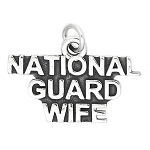 Sterling Silver National Guard Wife Charm (with options)