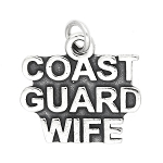 Sterling Silver Coast Guard Wife Charm