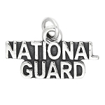 Sterling Silver National Guard Charm Pendant (WITH OPTIONS)