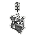 Sterling Silver Dangle Kenya Bead Charm
