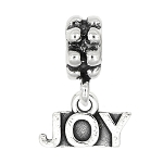 Sterling Silver Dangle Joy Bead Charm