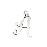 LGU® Sterling Silver Cursive Initial Letter Charm