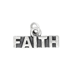 Sterling Silver One Sided Faith Talking Charm