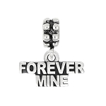 Sterling Silver Oxidized Forever Mine Dangle Bead Charm
