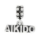Sterling Silver Oxidized Aikido Dangle Bead Charm