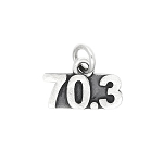 Sterling Silver Oxidized 70.3 triathlon Long Distance Race Charm (Options to Choose)