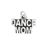Sterling Silver Oxidized Dance Mom Charm