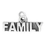 LGU® Sterling Silver Oxidized Family Charm (with Options)