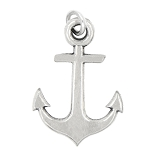LGU® Sterling Silver Oxidized Medium Size Faith Anchor Charm (With Options)
