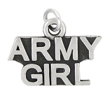 LGU® Sterling Silver Oxidized Army Girl Charm (With Options)