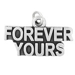 LGU® Sterling Silver Oxidized Forever Yours Charm (With Options)