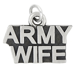 LGU® Sterling Silver Oxidized Army Wife Charm (With Options)
