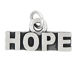 LGU® Sterling Silver Oxidized Hope Charm (With Options)