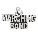 Sterling Silver Oxidized Marching Band Charm (Options)