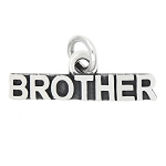 LGU® Sterling Silver Oxidized Family Charm Brother Charm (With Options)