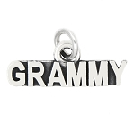 LGU® Sterling Silver Oxidized Grammy Grandmother Charm (With Options)