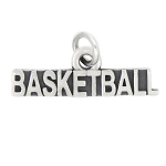 LGU® Sterling Silver Oxidized Sport Basketball Charm (With Options)