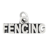 LGU® Sterling Silver Oxidized Talking Sport Fencing Charm (With Options)