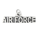 LGU® Sterling Silver Oxidized Air Force Charm (With Options)
