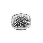 Sterling Silver Year 2017 Graduation Bead Charm