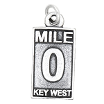 LGU® Sterling Silver Oxidized Mile 0 Key West Charm -with Options