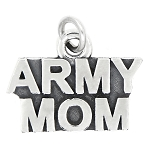 LGU® Sterling Silver Oxidized Army Mom Charm (With Options)