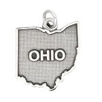 LGU® Sterling Silver Oxidized Ohio Charm -with Options