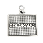 LGU® Sterling Silver Oxidized Colorado Charm -with Options