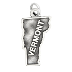 LGU® Sterling Silver Oxidized Vermont Charm -with Options