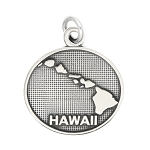 LGU® Sterling Silver Oxidized Hawaii Charm -with Options