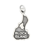 LGU® Sterling Silver Oxidized Block Island Charm -with Options