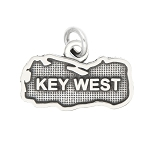 LGU® Sterling Silver Oxidized Key West, Florida Charm -with Options