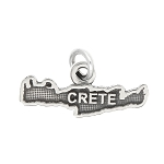 LGU® Sterling Silver Oxidized Crete Charm -with Options