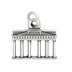 LGU® Sterling Silver Oxidized Brandenburg Gate Germany Charm -with Options