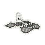 LGU® Sterling Silver Oxidized Santa Catalina Island, California Charm -with Options