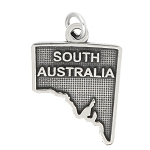 LGU® Sterling Silver Oxidized South Australia Charm -with Options