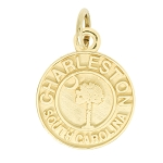 14Kt Yellow Gold Polished Travel Charleston South Carolina Charm Pendant