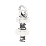 LGU® Sterling Silver Oxidized Nut and Bolt Charm  -with Options
