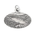 Sterling Silver Oxidized Travel Maine Acadia National Park Charm Pendant