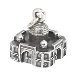 LGU® Sterling Silver Oxidized Three Dimensional Taj Mahal Charm