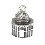LGU® Sterling Silver Oxidized Three Dimensional Jerusalem Dome of the Rock Temple Mount Charm