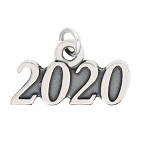 LGU® Sterling Silver Oxidized Class of 2020 Graduation Year Charm (With Options)