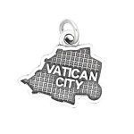 LGU® Sterling Silver Oxidized Vatican City Map Charm (With Options)