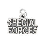 LGU® Sterling Silver Oxidized Special Forces Charm (With Options)